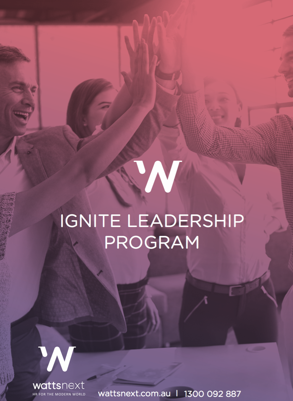 Ignite Leadership Program - 2021 - Wattsnext Group