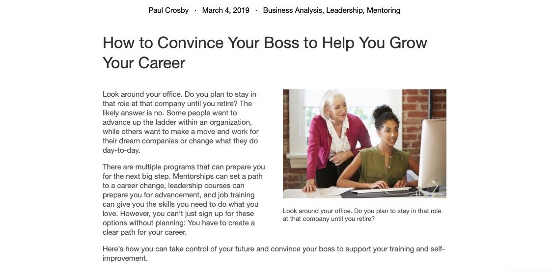 How to Convince Your Boss to Help You Grow Your Career - 2020 - Wattsnext Group